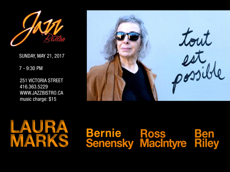 Laura Marks at Jazz Bistro May 21, 2017 Poster