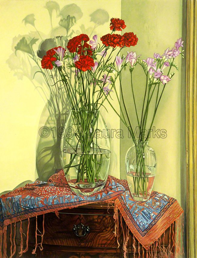 Carnations and Freesias