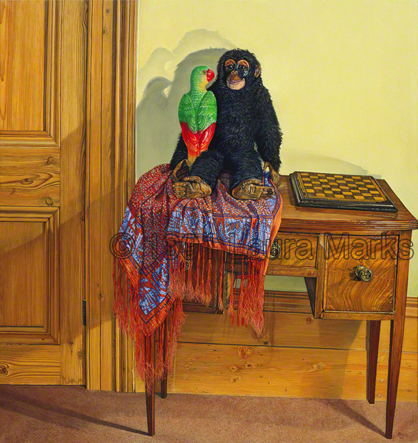 Monkey & Parrot